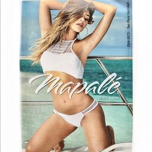 NWT Netted Sporty White Bikini set Bachelorette 👙